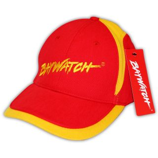 LICENSED BAYWATCH ® RED/YELLOW CAP